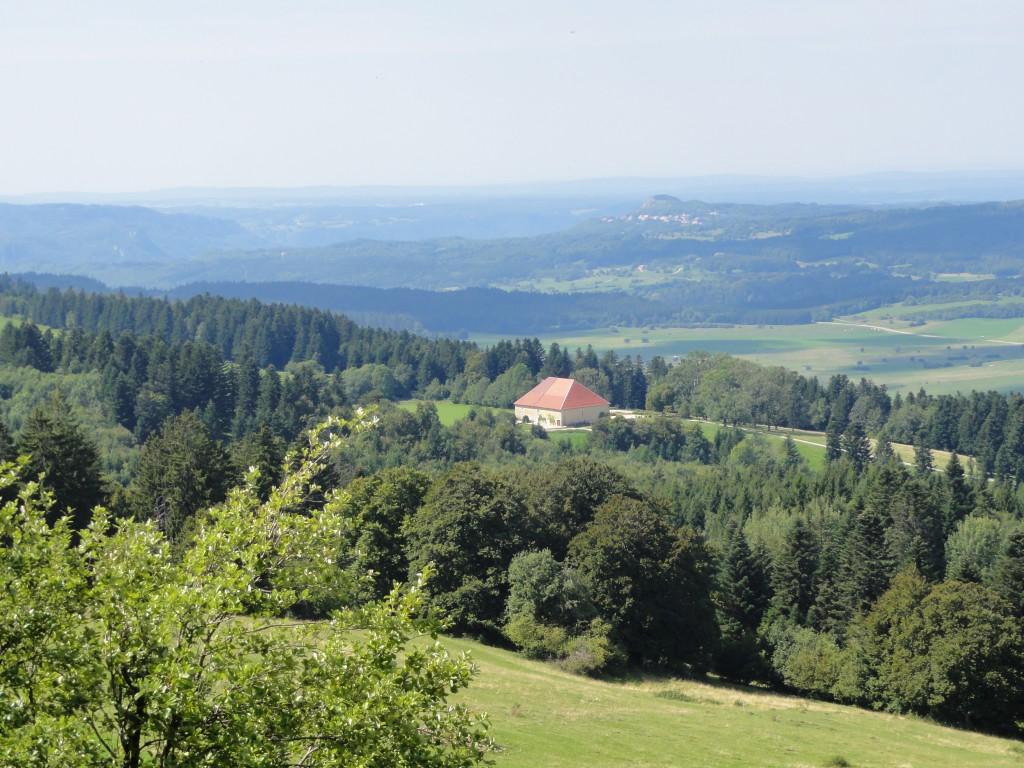 Vue depuis Crêt du Monniot Trail du Saugeais